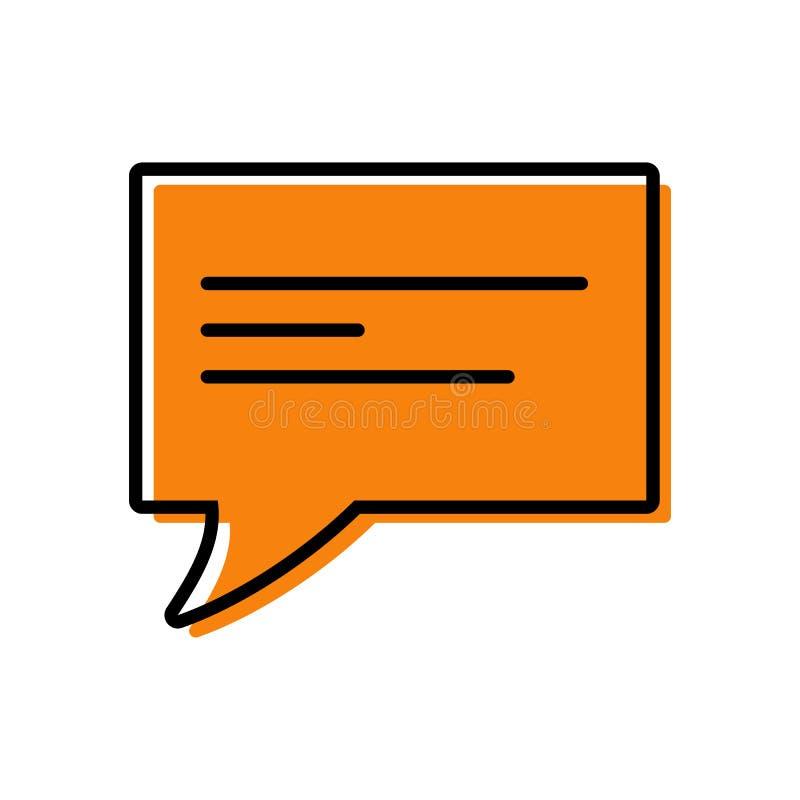 Icono de la charla Texto de diálogo stock de ilustración