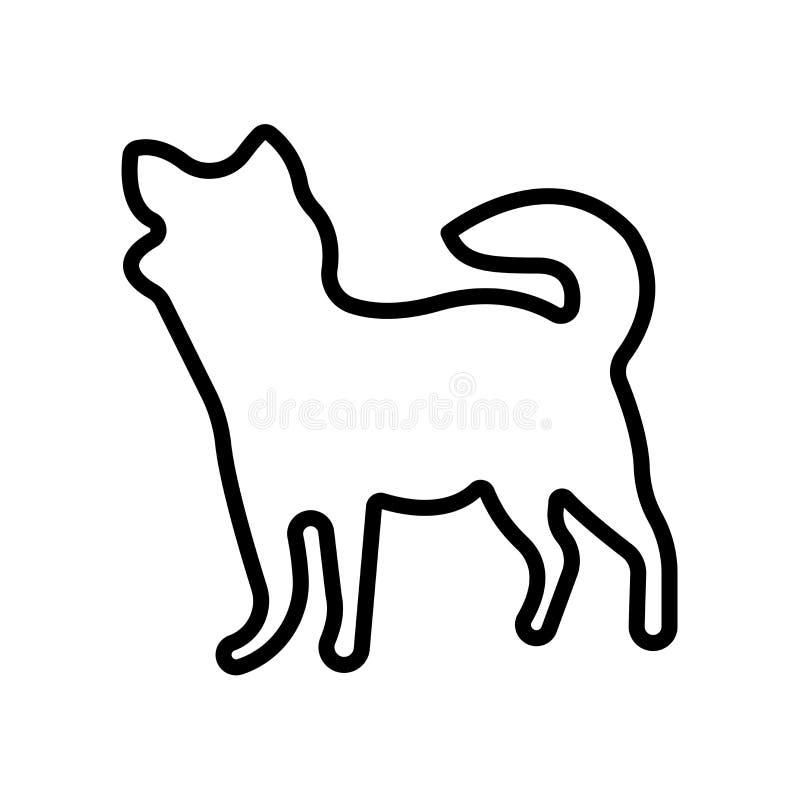 icono de la chihuahua aislado en el fondo blanco stock de ilustración