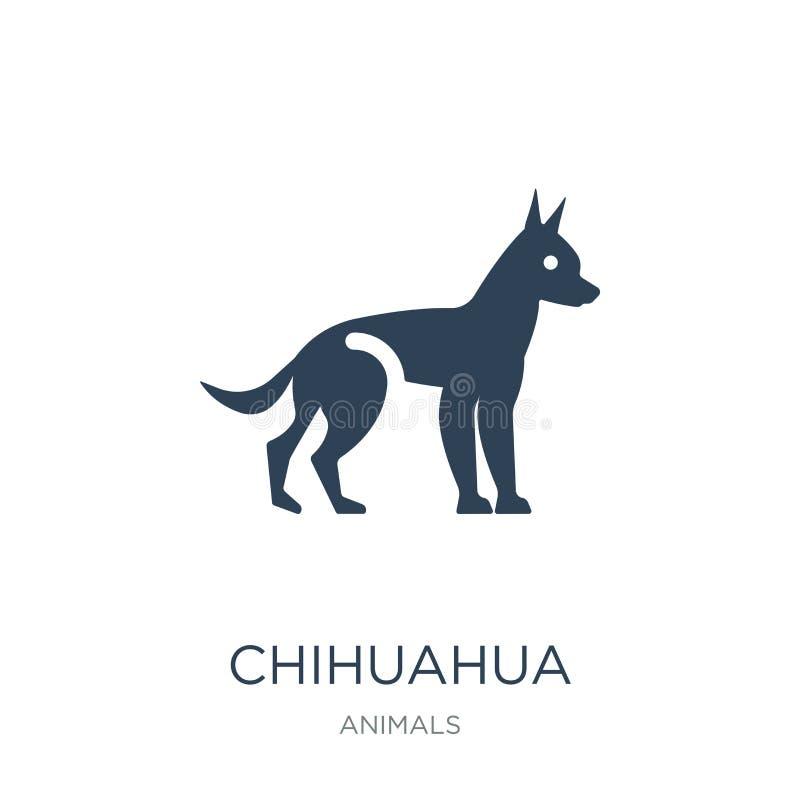 icono de la chihuahua en estilo de moda del diseño icono de la chihuahua aislado en el fondo blanco plano simple y moderno del ic ilustración del vector