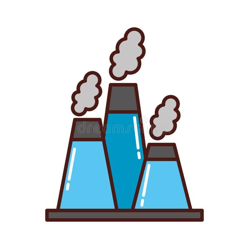 Icono de la chimenea de la industria de la fábrica libre illustration