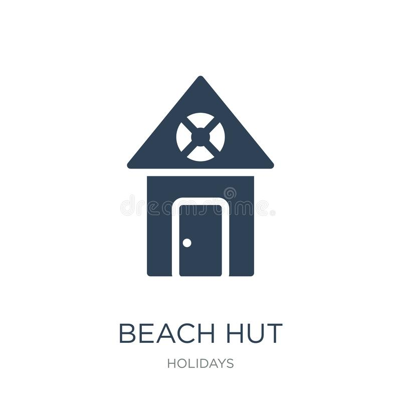 icono de la choza de la playa en estilo de moda del diseño icono de la choza de la playa aislado en el fondo blanco plano simple  libre illustration