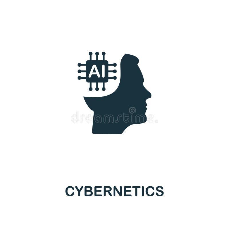 Icono de la cibernética Diseño superior del estilo de la colección del icono de la inteligencia artificial UI y UX Icono perfecto stock de ilustración