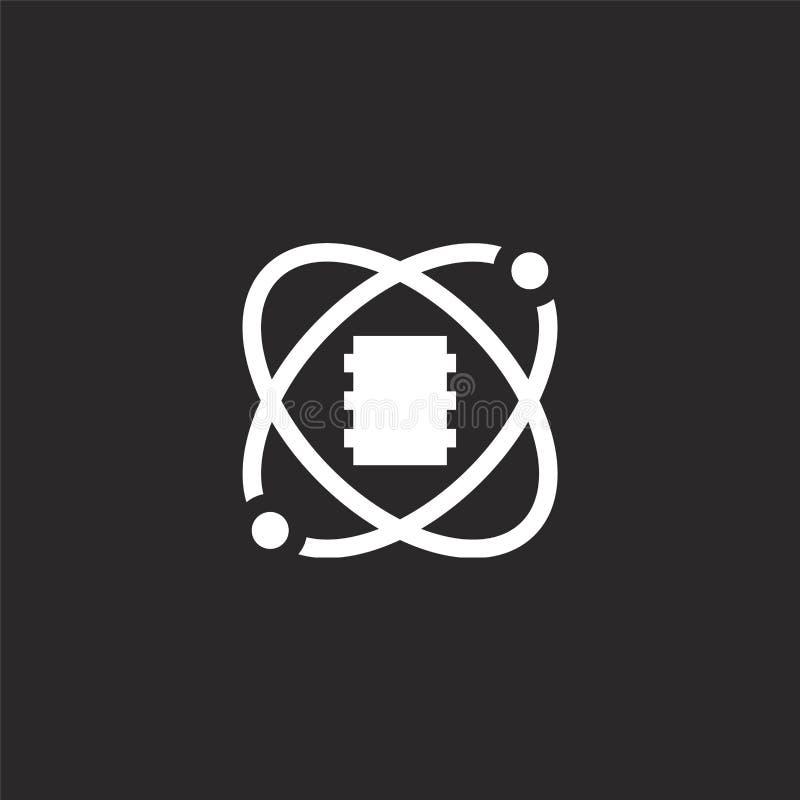 icono de la ciencia de los datos Icono llenado de la ciencia de los datos para el diseño y el móvil, desarrollo de la página web  ilustración del vector