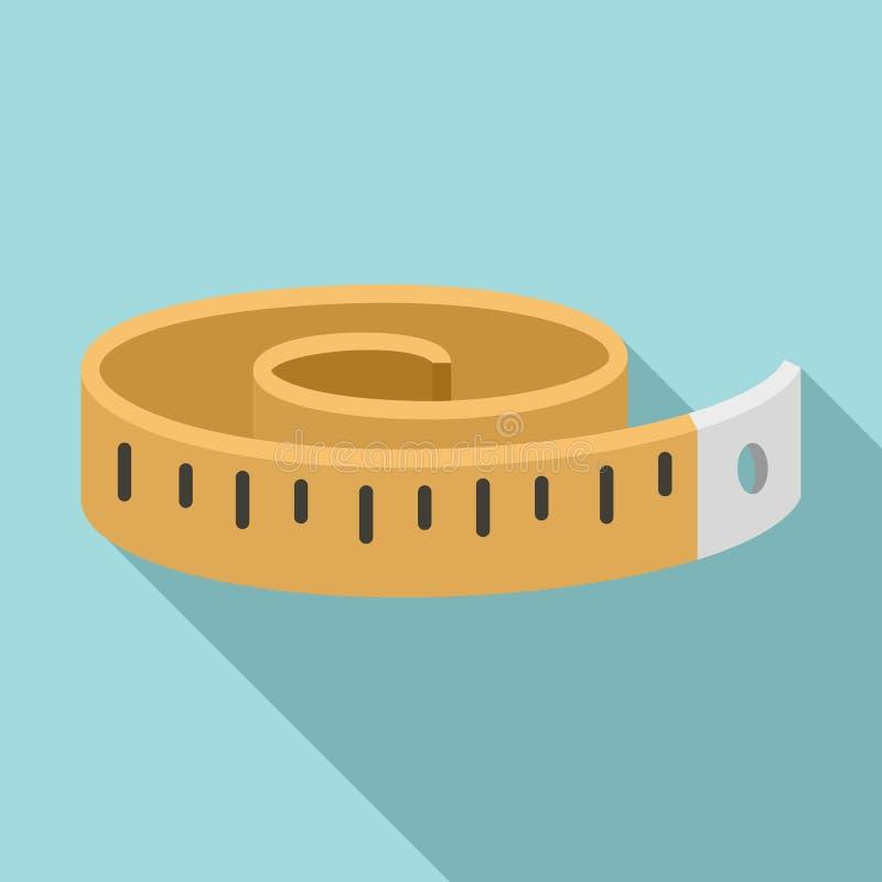 Icono de la cinta de la aptitud de la medida, estilo plano ilustración del vector