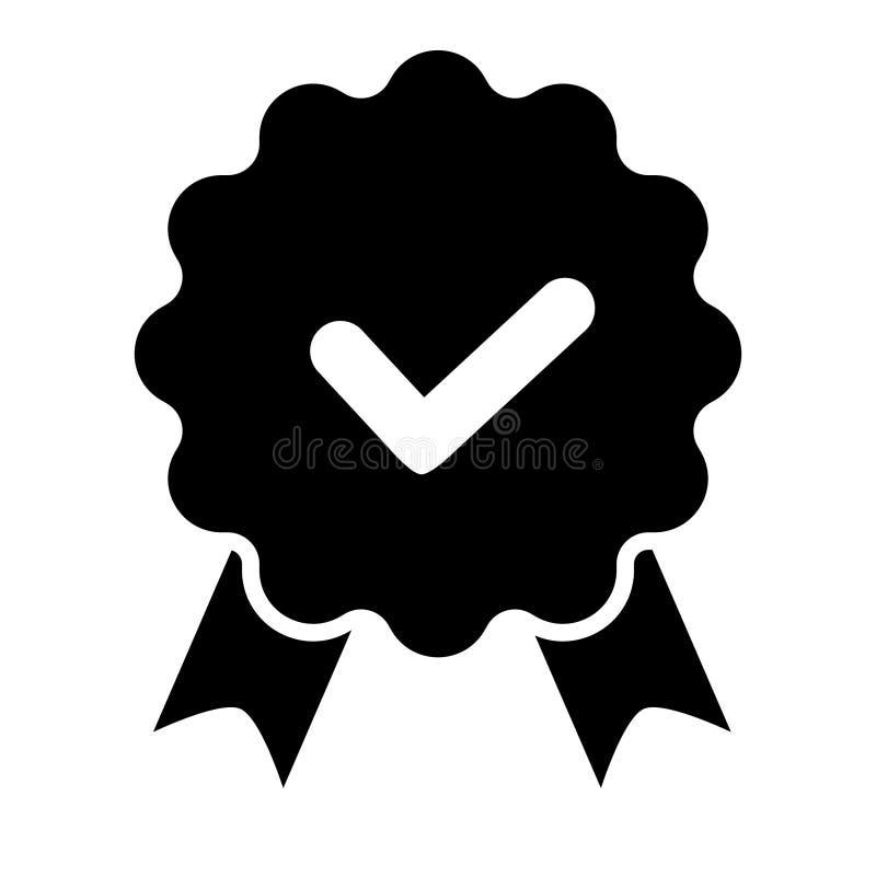 Icono de la cinta del control de la calidad La opci?n certificada o mejor del producto de vector recomend? la marca aprobada del  ilustración del vector