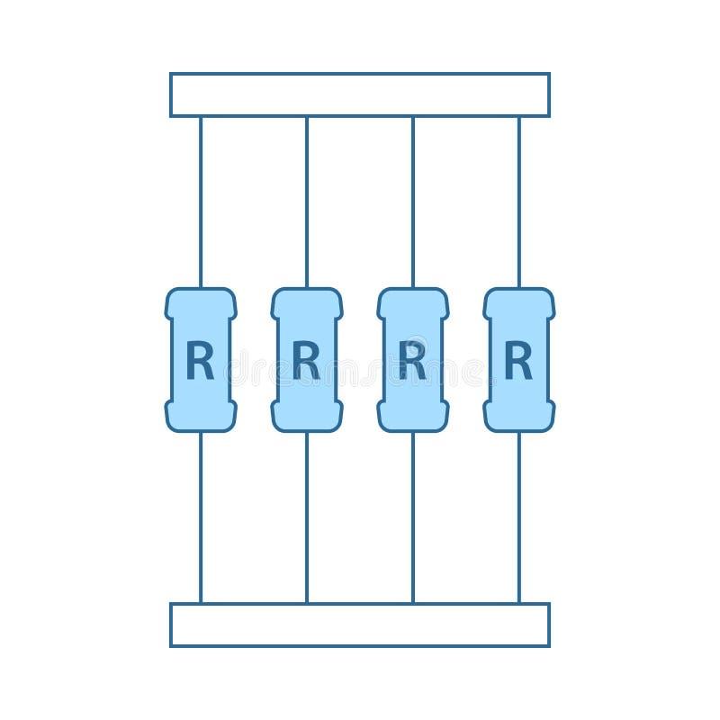 Icono de la cinta del resistor libre illustration