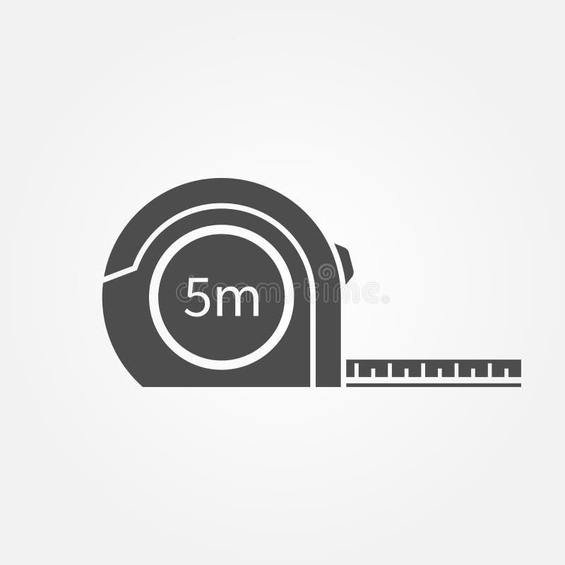 Icono de la cinta métrica stock de ilustración
