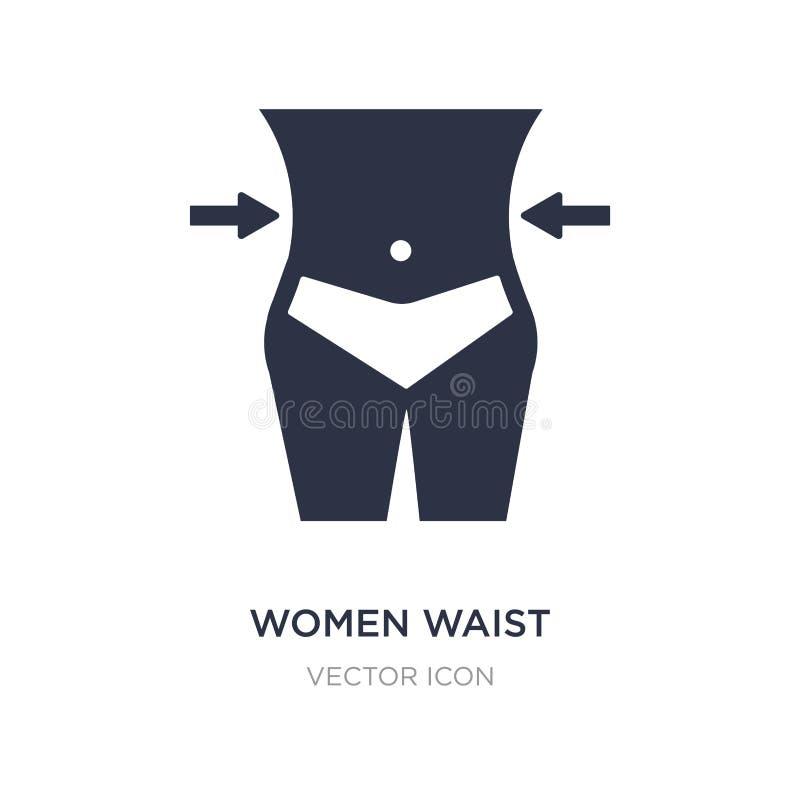 icono de la cintura de las mujeres en el fondo blanco Ejemplo simple del elemento del concepto de la belleza ilustración del vector