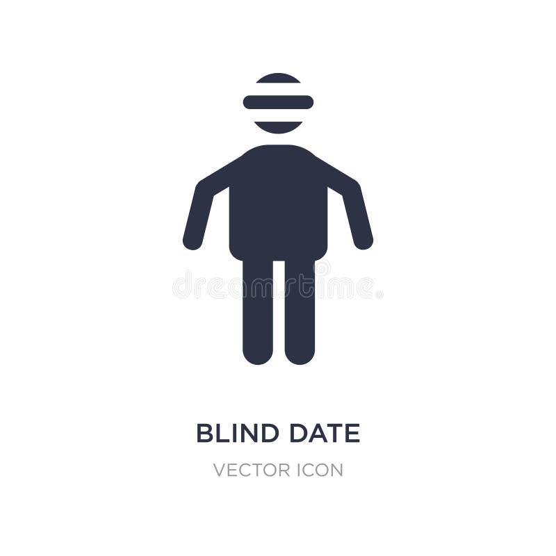 icono de la cita a ciegas en el fondo blanco Ejemplo simple del elemento del concepto de la gente stock de ilustración
