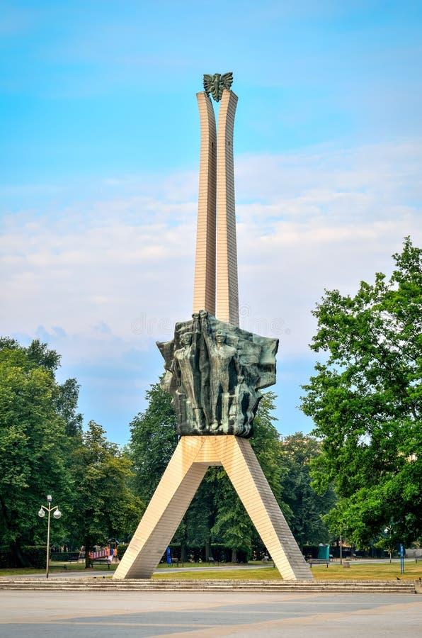 Icono de la ciudad de Tychy en Polonia imagen de archivo libre de regalías