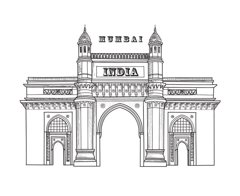 Icono de la ciudad de Mumbai Símbolo arquitectónico de Mumbai Puerta de la India Arquitectura india Planta de viajes famosa de la fotos de archivo libres de regalías