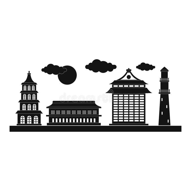 Icono de la ciudad de Taipei, estilo simple ilustración del vector
