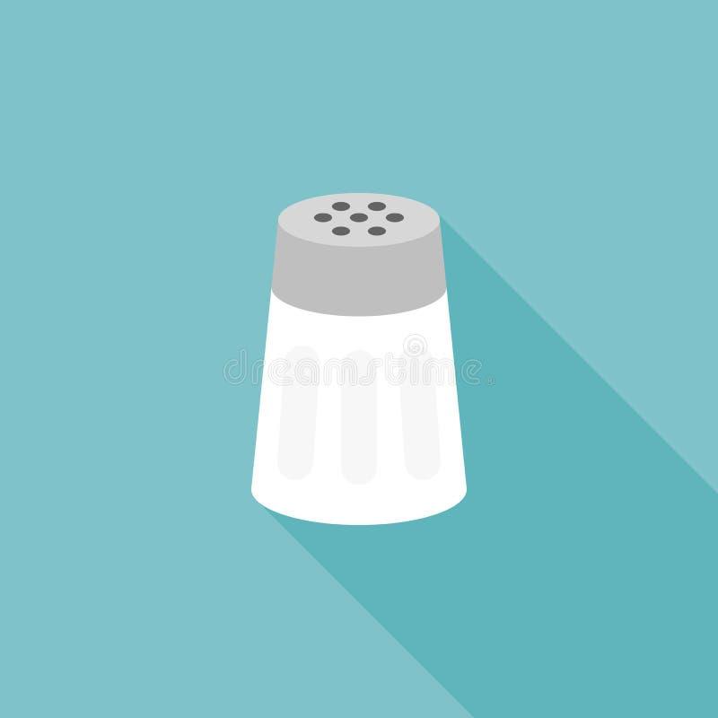 Icono de la coctelera de sal stock de ilustración
