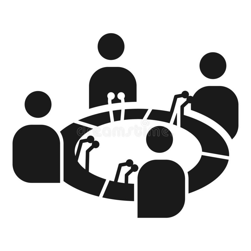 Icono de la cohesión de la conferencia, estilo simple libre illustration