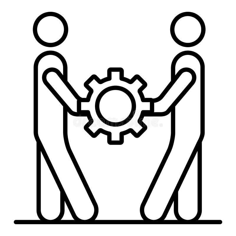 Icono de la cohesión de la gente, estilo del esquema libre illustration