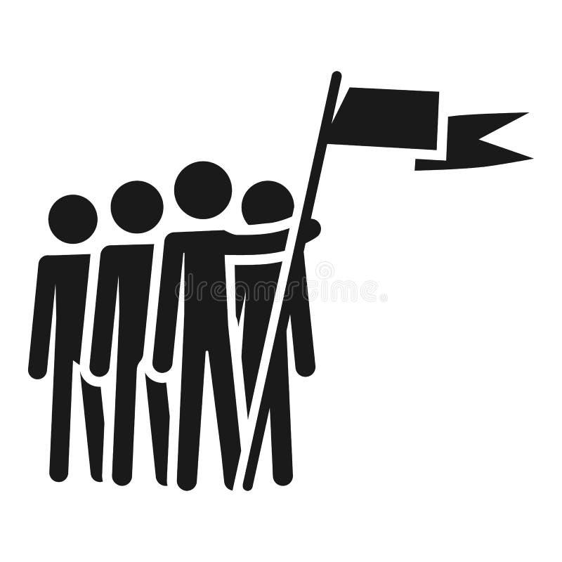 Icono de la cohesión de la gente, estilo simple libre illustration