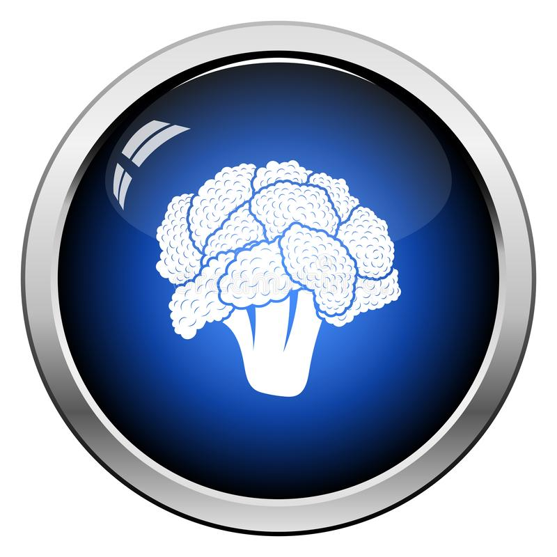Icono de la coliflor ilustración del vector