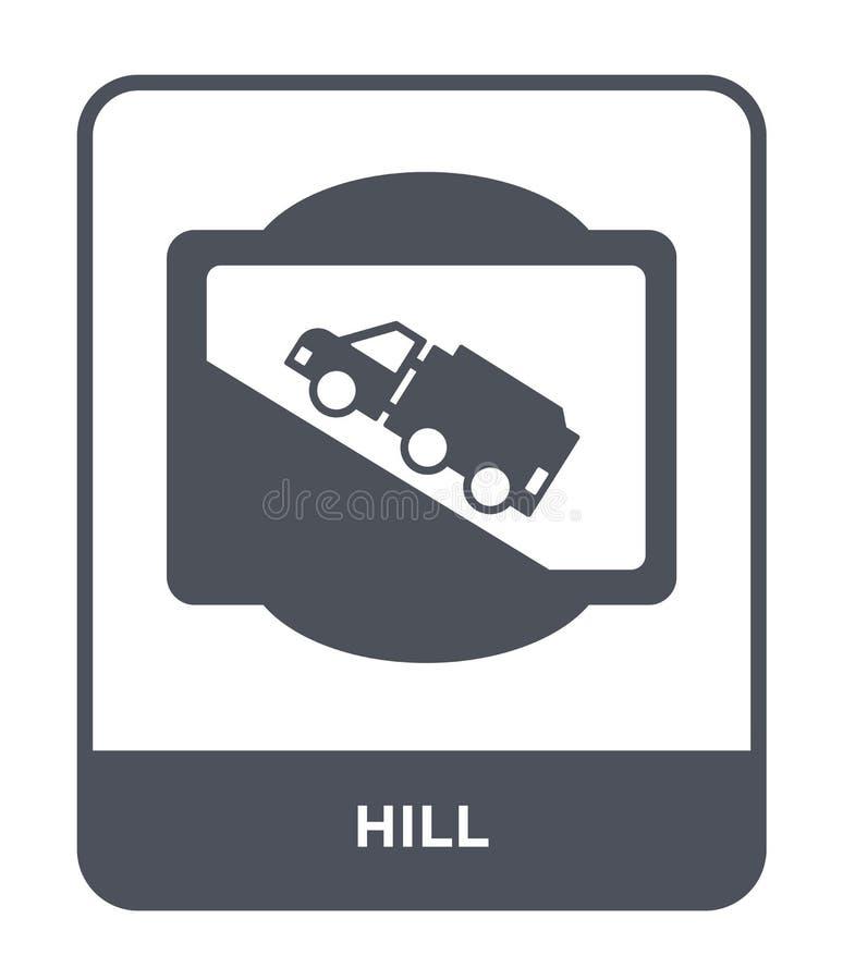 icono de la colina en estilo de moda del diseño Icono de la colina aislado en el fondo blanco símbolo plano simple y moderno del  libre illustration