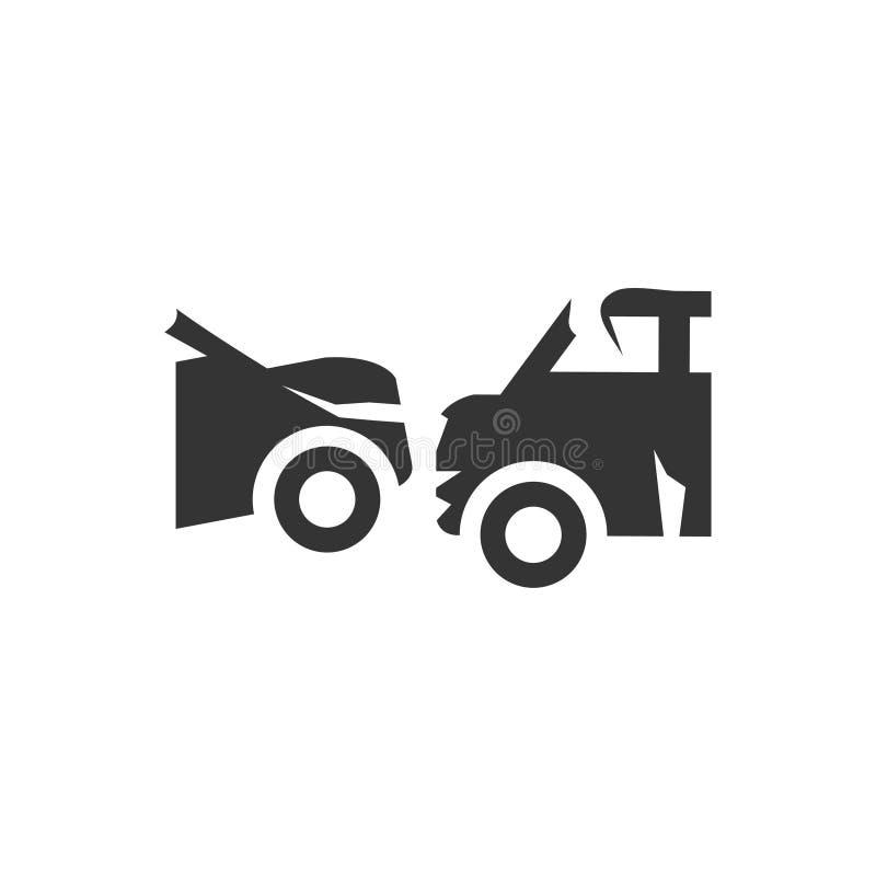 Icono de la colisión del coche libre illustration