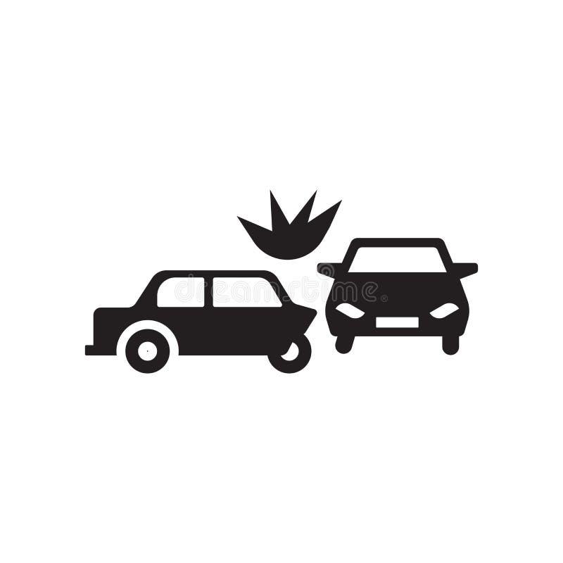 Icono de la colisión del final posterior Concepto de moda del logotipo de la colisión del final posterior ilustración del vector