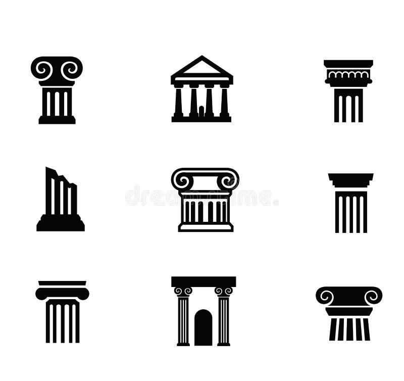 Icono de la columna ilustración del vector