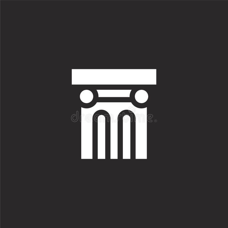 Icono de la columna Icono llenado de la columna para el diseño y el móvil, desarrollo de la página web del app el icono de la col ilustración del vector