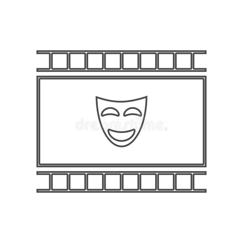 Icono de la comedia Sistema de iconos del elemento del cine Dise?o gr?fico de la calidad superior Muestras e icono para los sitio libre illustration