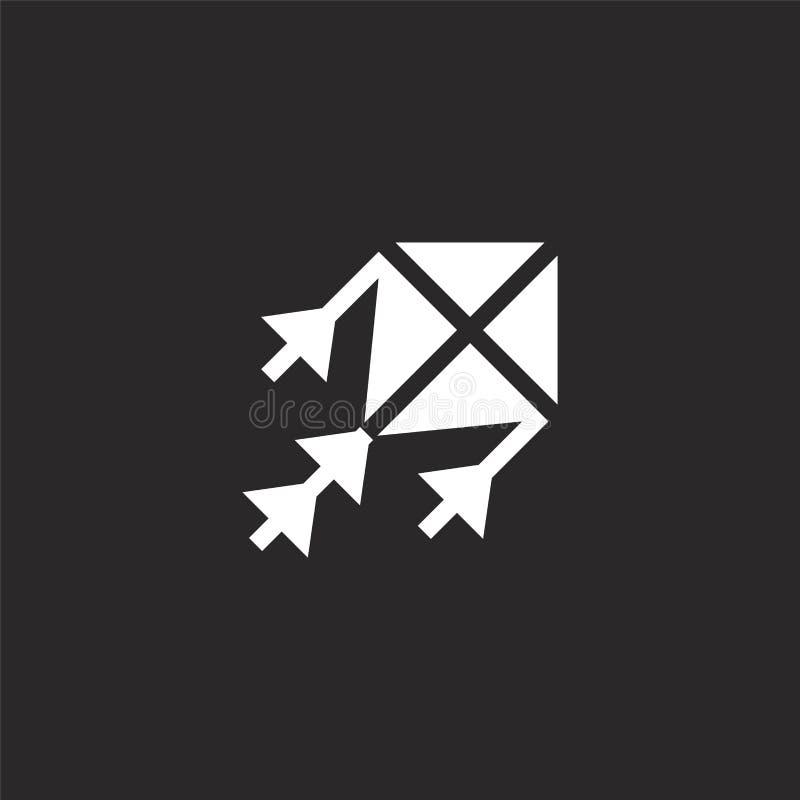 icono de la cometa Icono llenado de la cometa para el diseño y el móvil, desarrollo de la página web del app icono de la cometa d libre illustration