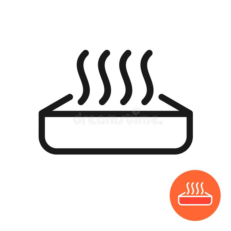 Icono de la comida del calentamiento Símbolo de la calefacción con el envase ilustración del vector