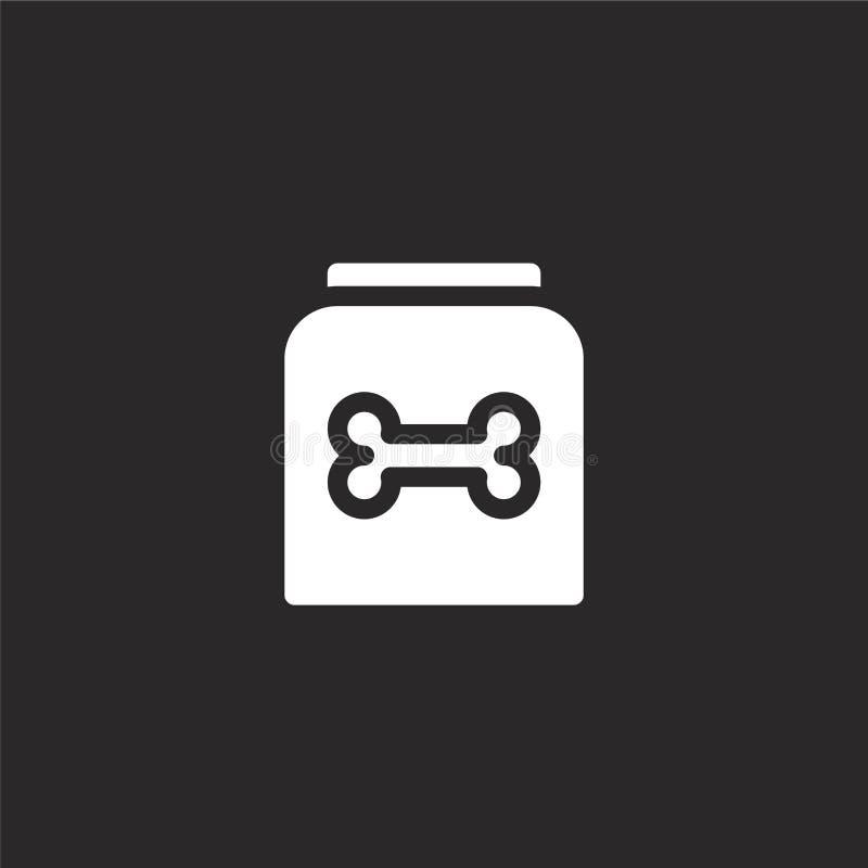 Icono de la comida de perro Icono llenado de la comida de perro para el diseño y el móvil, desarrollo de la página web del app ic libre illustration