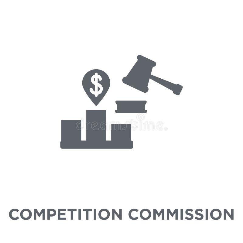 Icono de la Comisión de la competencia del collecti de la Comisión de la competencia stock de ilustración