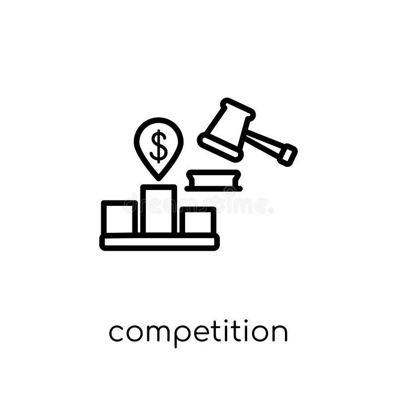 Icono de la Comisión de la competencia del collecti de la Comisión de la competencia ilustración del vector