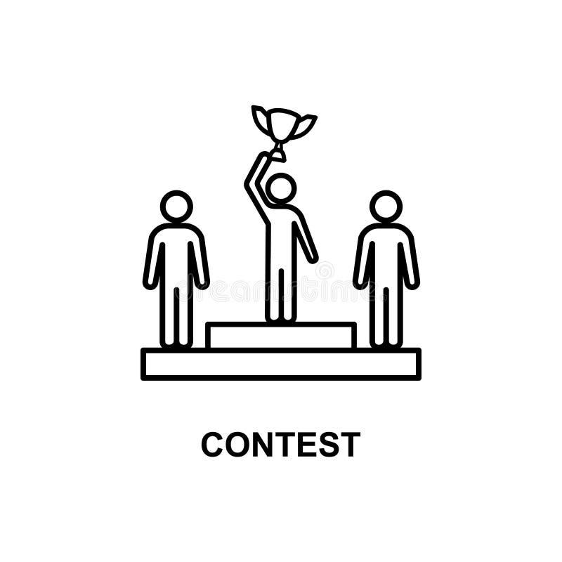 icono de la competencia del negocio Elemento de la conferencia con el icono de la descripción para los apps móviles del concepto  stock de ilustración