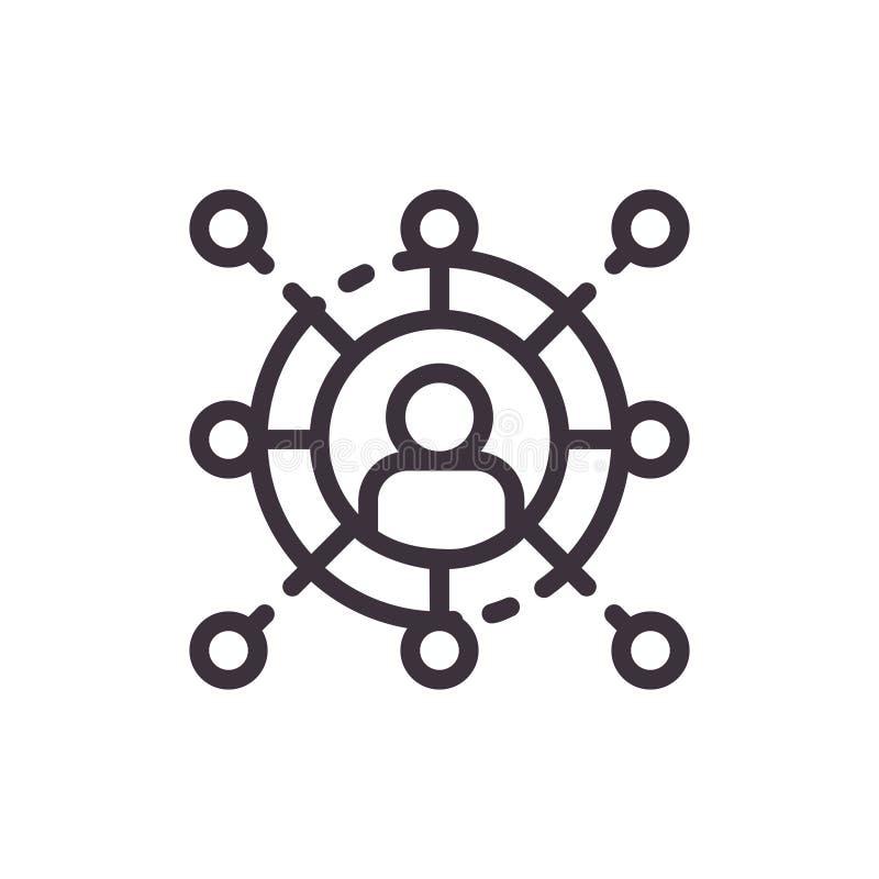 Icono de la comunicación empresarial y del establecimiento de una red ilustración del vector