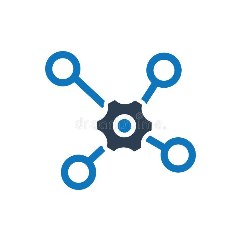 Icono de la conexión del trabajo en equipo stock de ilustración