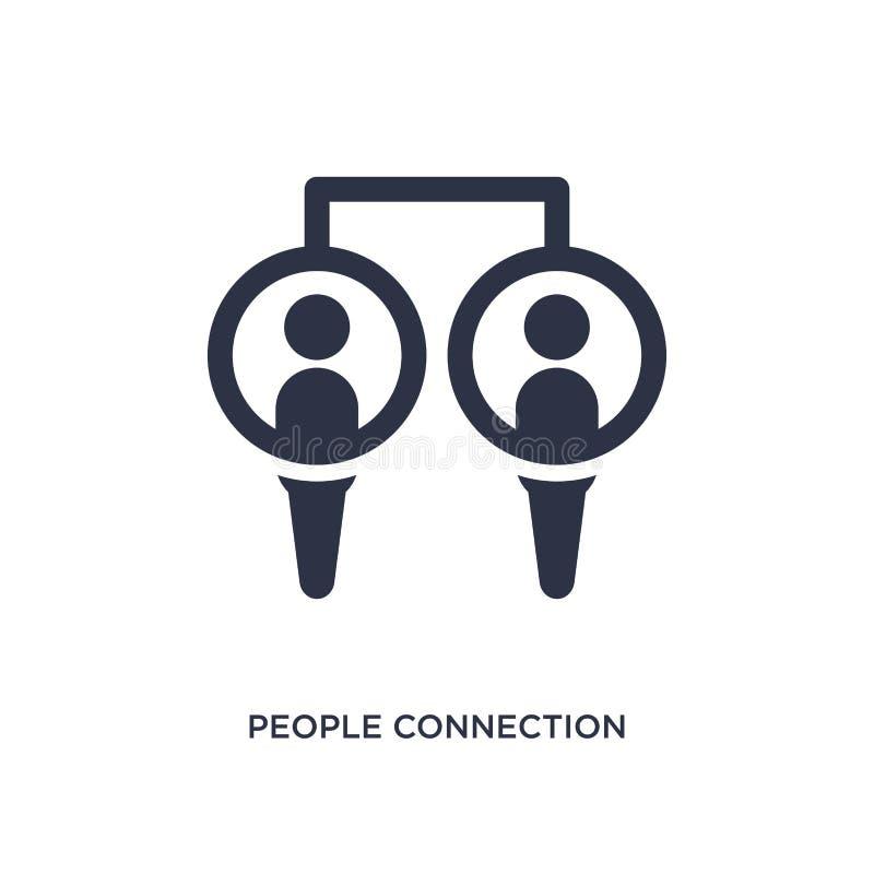 icono de la conexión de la gente en el fondo blanco Ejemplo simple del elemento del concepto de la comunicación ilustración del vector