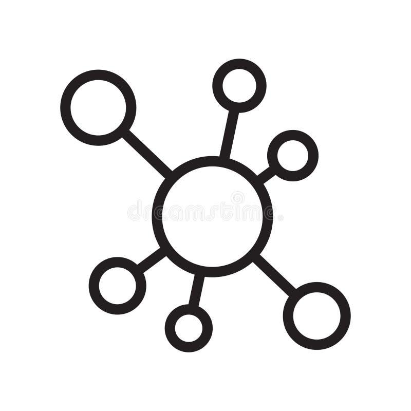 Icono de la conexión de red del eje ilustración del vector