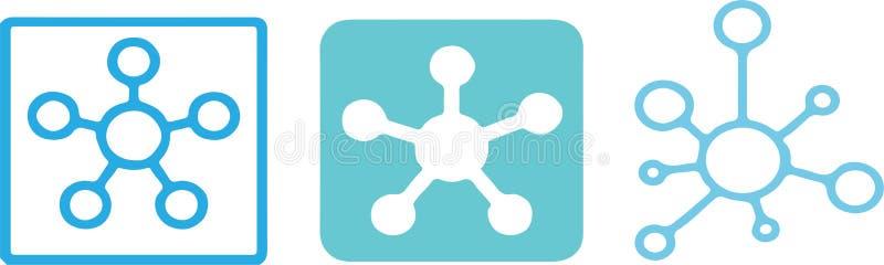 Icono de la conexión de red del eje en fondo del color libre illustration