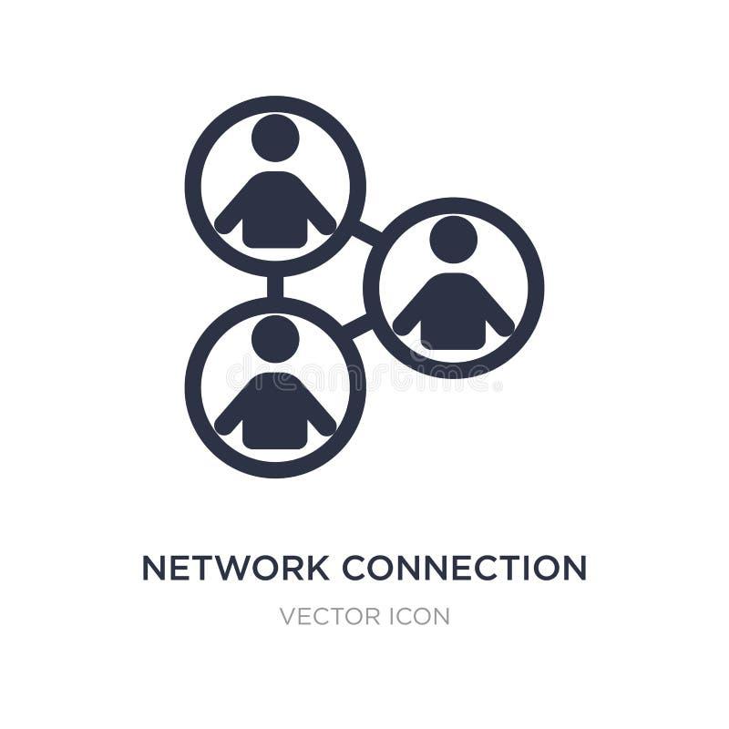 icono de la conexión de red en el fondo blanco Ejemplo simple del elemento del concepto de la gente stock de ilustración