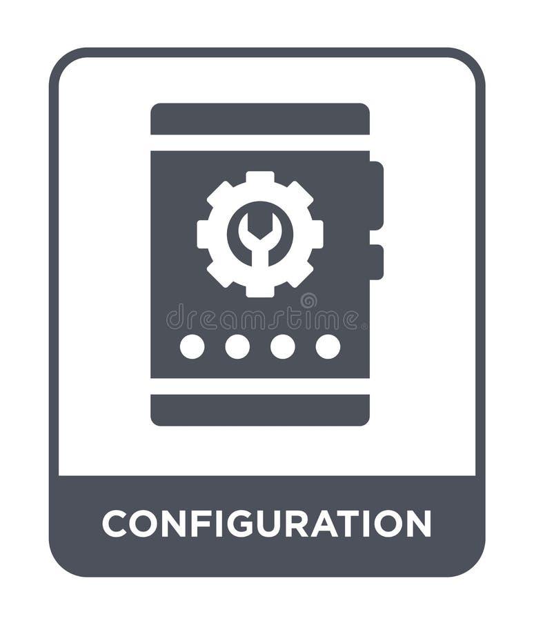 icono de la configuración en estilo de moda del diseño icono de la configuración aislado en el fondo blanco icono del vector de l libre illustration