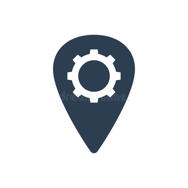 Icono de la configuración de la ubicación ilustración del vector