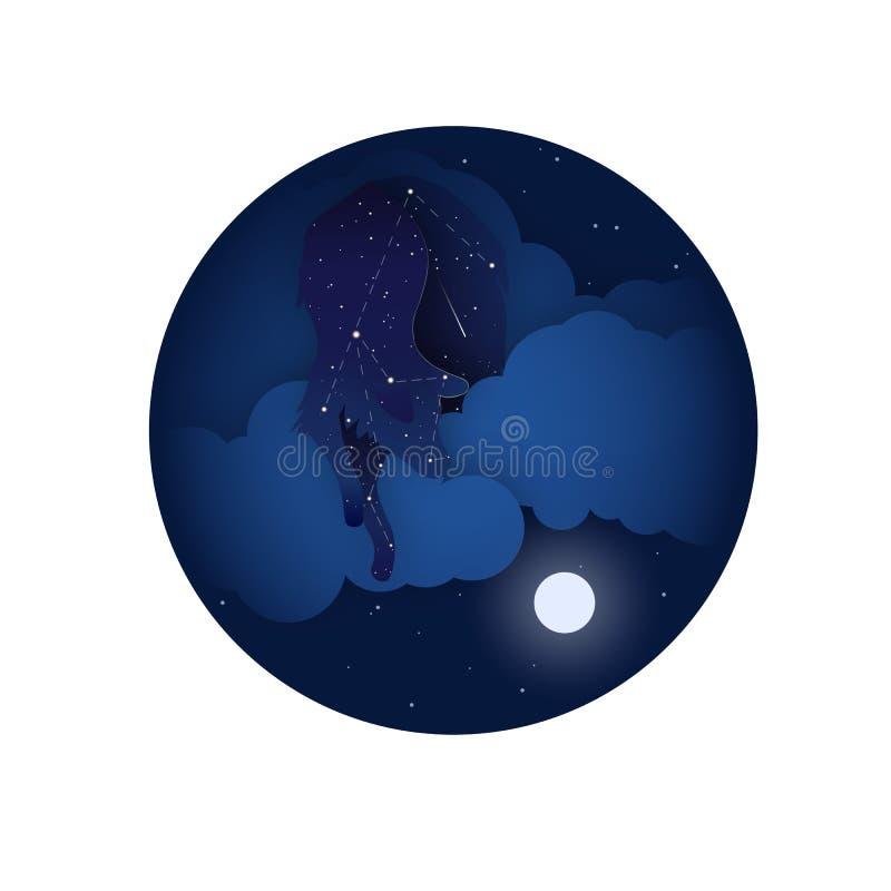 Icono de la constelación de la estrella del lobo foto de archivo libre de regalías