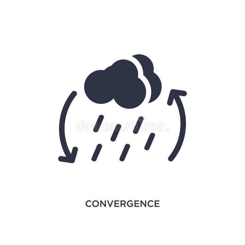 icono de la convergencia en el fondo blanco Ejemplo simple del elemento del concepto del tiempo libre illustration