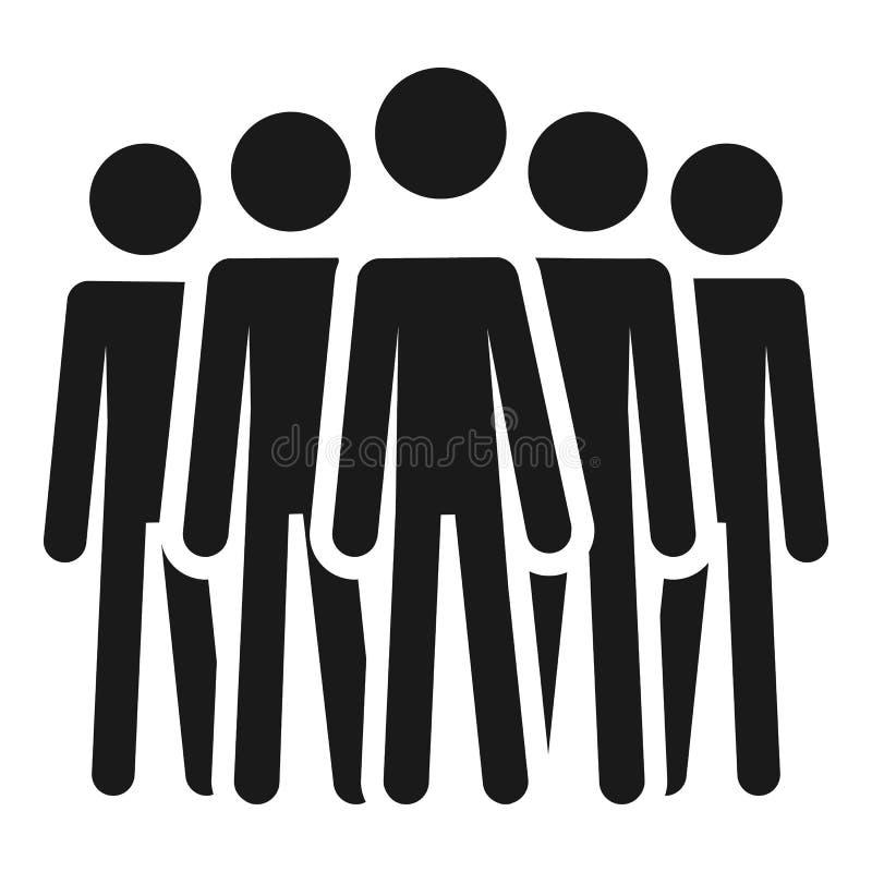 Icono de la cooperación de la gente, estilo simple libre illustration