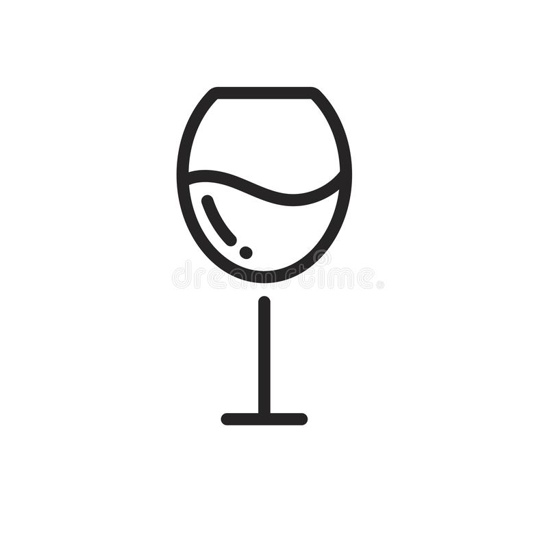 Icono de la copa de vino stock de ilustración