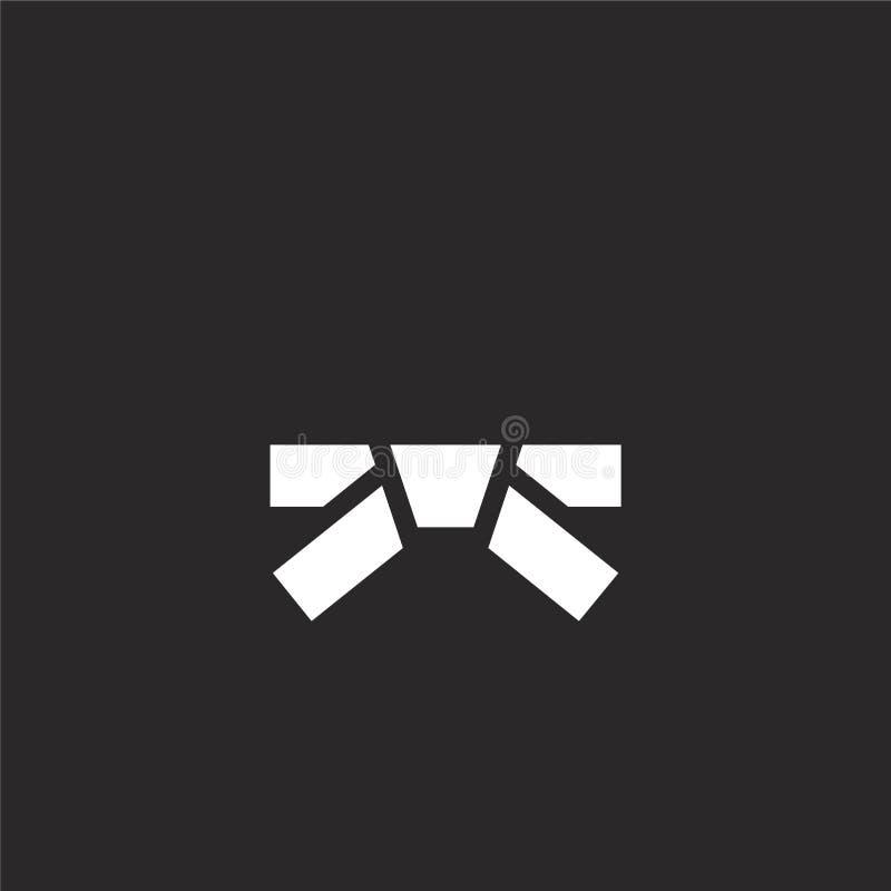Icono de la correa Icono llenado de la correa para el diseño y el móvil, desarrollo de la página web del app el icono de la corre libre illustration