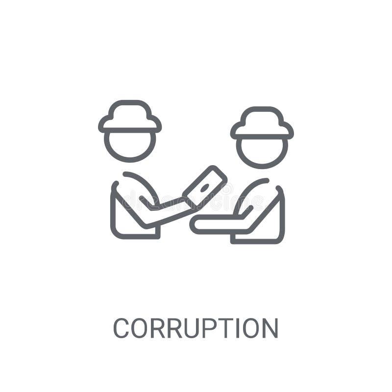 Icono de la corrupción Concepto de moda del logotipo de la corrupción en el backgro blanco ilustración del vector