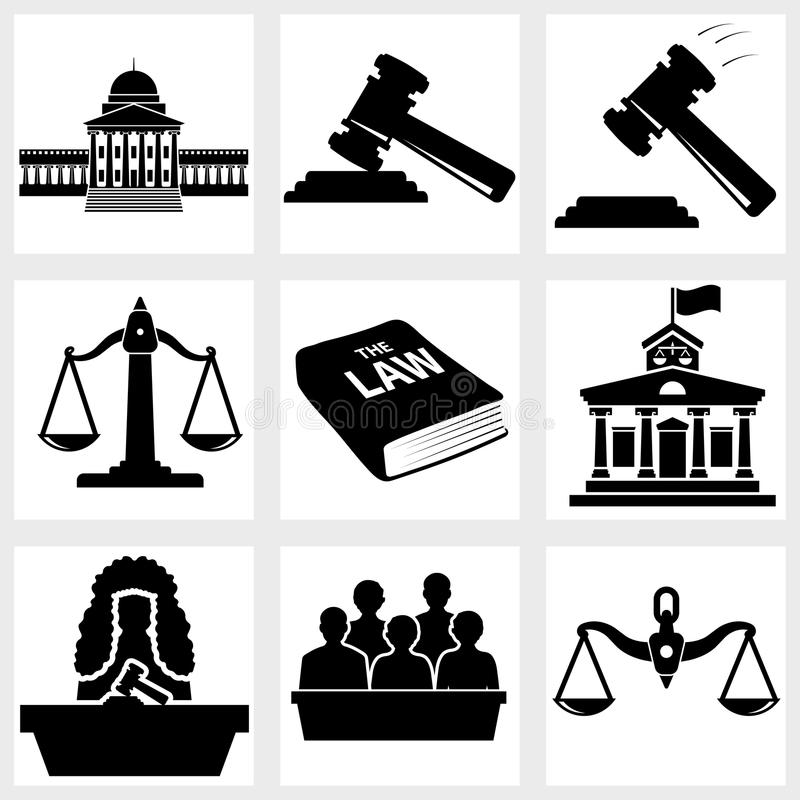 Icono de la corte ilustración del vector