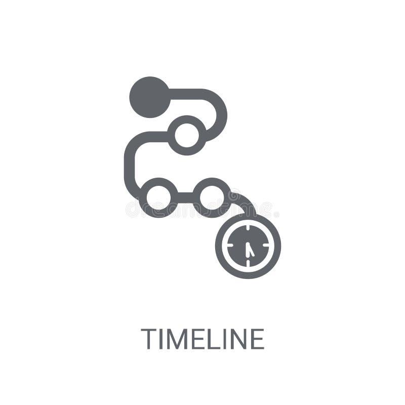 Icono de la cronología Concepto de moda del logotipo de la cronología en el fondo blanco ilustración del vector