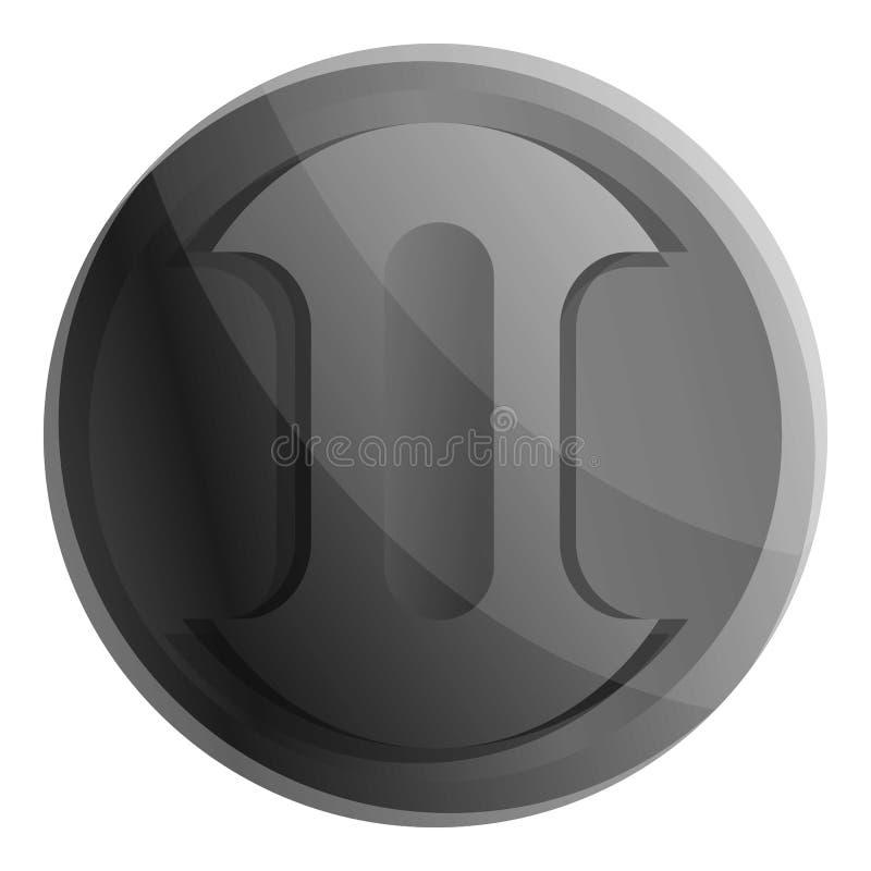 Icono de la cubierta de lente de cámara, estilo de la historieta stock de ilustración
